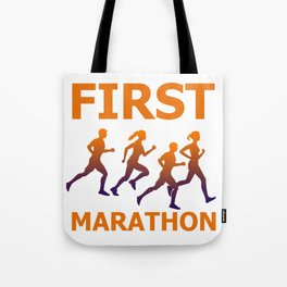 Runners Gift for Running First Marathon Graphic Tote Bag