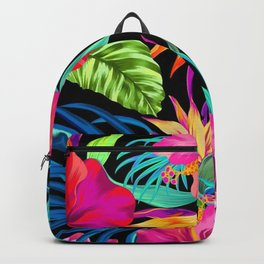 Drive You Mad Hibiscus Pattern Backpack