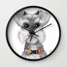 Moustache dog Wall Clock