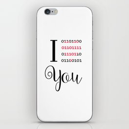 Our love in binary code iPhone Skin