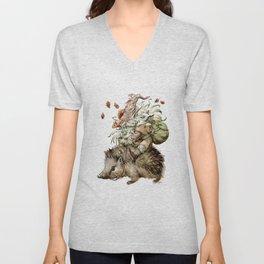 Forest Gnome by Anna Helena Szymborska Unisex V-Neck