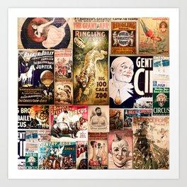 Circus Collage Art Print