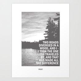 The Road Not Taken - Robert Frost Art Print Art Print