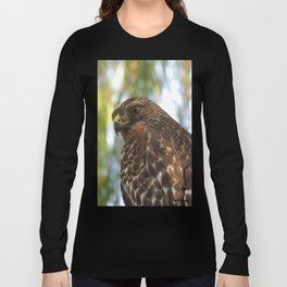 Young Red-Shouldered Hawk in a Desert Willow Long Sleeve T-shirt