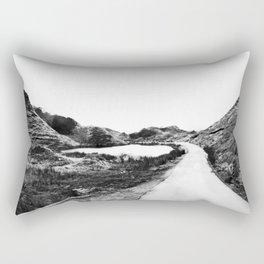 Road through Fairy Glen - B/W Rectangular Pillow