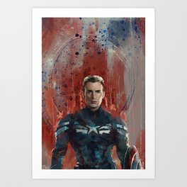Cap (half-length) Art Print