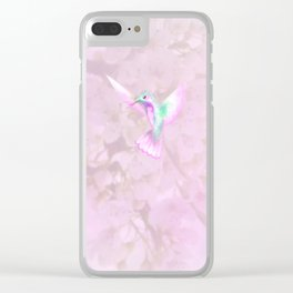 Little Hummingbird Clear iPhone Case