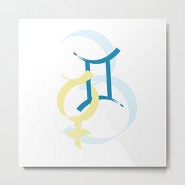 Gemini ID Metal Print