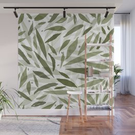 Green eucalyptus leaves Wall Mural