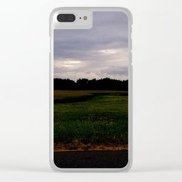 South Maple Cornfield Clear iPhone Case