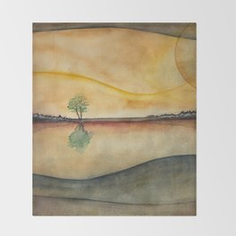 Lone Tree Throw Blanket