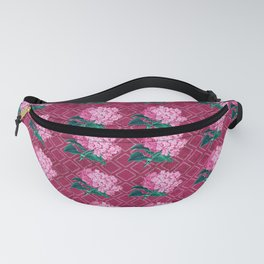 Pink Bouquet of Flowers on Pink background  Fanny Pack