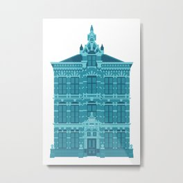 Blue House in Holland Metal Print