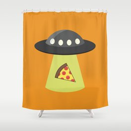 Take Me to Your Pizza Shower Curtain