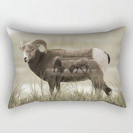 Hungry Goats Rectangular Pillow