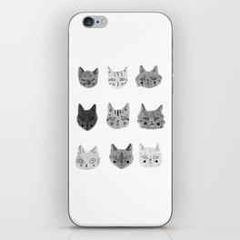 Cat Faces iPhone Skin