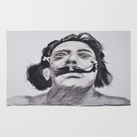 salvador dali Area & Throw Rugs featuring Salvador Dali by Blasto17