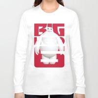 big hero 6 Long Sleeve T-shirts featuring Baymax - Big Hero 6 by Nguyen