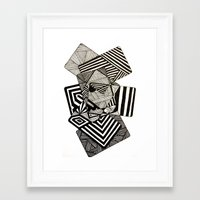alt j Framed Art Prints featuring Alt by imtn