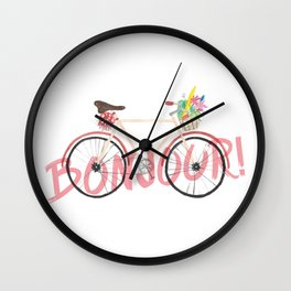 Bonjour! Bicycle Wall Clock