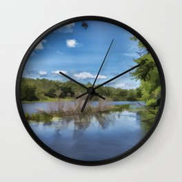 River Landscape Wall Clock