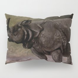 Vintage Rhinoceros Painting (1909) Pillow Sham