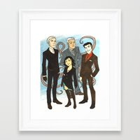 suits Framed Art Prints featuring Suits by FindChaos