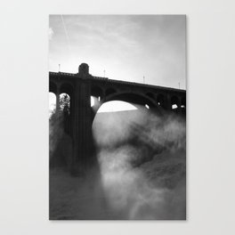 Flee From The Deadly Light Canvas Print