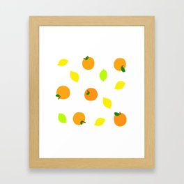Citrus with Yellow, Orange and Green Oranges, Lemons and Limes Framed Art Print