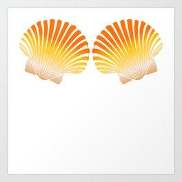 "Unique Mermaid Shirt For Mermaid Lovers Saying ""Mermaid Shells"" T-shirt Design Wheel Ocean Swim Art Print"