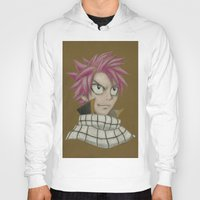 fairy tail Hoodies featuring Natsu - Fairy Tail by Kelly Katastrophe
