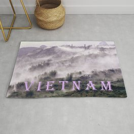 FOGGY FOREST in the VIETNAMESE MOUNTAIN Rug