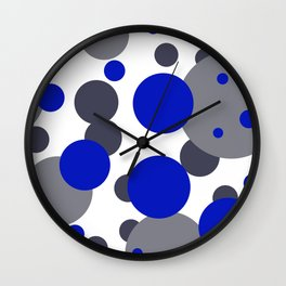 Bubbles blue grey- white design Wall Clock