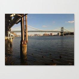 NYC East River | Manhattan Bridge Canvas Print