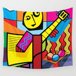 The musician and fruits Wall Tapestry