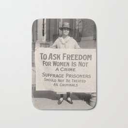 Freedom For Women Is Not A Crime Bath Mat