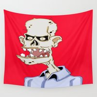 gentleman Wall Tapestries featuring Gentleman  Zombie by J&C Creations