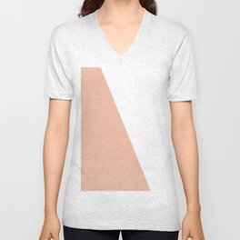 Geometric Ballet Slipper Pink + White Unisex V-Neck