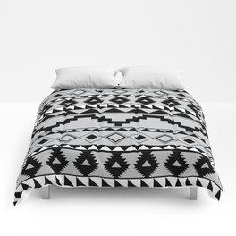 Aztec Pattern 2 Gray & Black Comforters