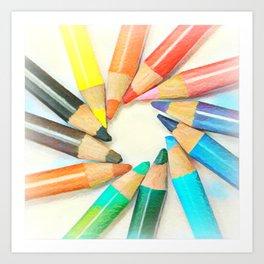 Pencils II Art Print