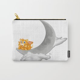 kitty on moon Carry-All Pouch