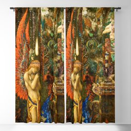 Portrait of the Goddess Saturn by Gustave Moreau Blackout Curtain