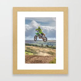 flying high in Motocross Framed Art Print