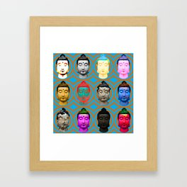 Buddha Heads Framed Art Print