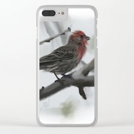 House Finch Clear iPhone Case