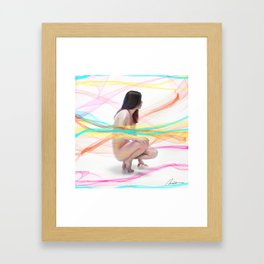 Natasha with Veils Framed Art Print