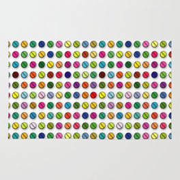 Multi-coloured Pills Pattern square Rug
