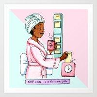 Self care ful ltime Art Print