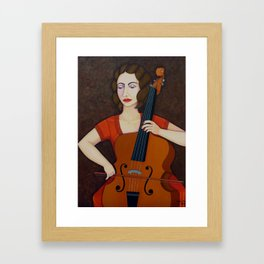 Guilhermina Suggia - Woman cellist of fire Framed Art Print