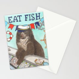 Joe the Bear, seafood shop owner Stationery Cards